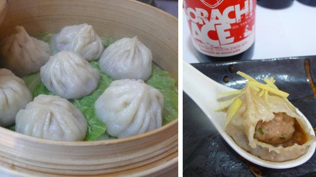 Beer xiao long bao - steamed and served