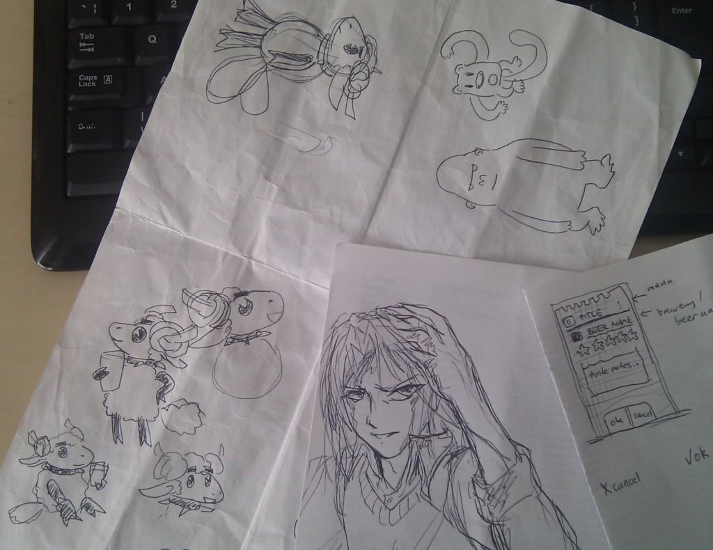 Desk Sketching